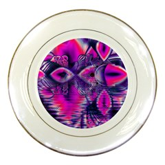 Rose Crystal Palace, Abstract Love Dream  Porcelain Display Plate by DianeClancy