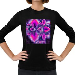 Rose Crystal Palace, Abstract Love Dream  Women s Long Sleeve T Shirt (dark Colored) by DianeClancy