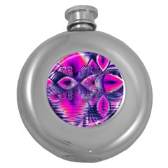 Rose Crystal Palace, Abstract Love Dream  Hip Flask (round) by DianeClancy