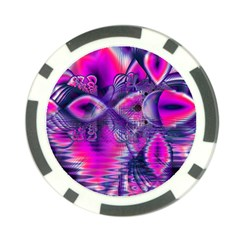 Rose Crystal Palace, Abstract Love Dream  Poker Chip by DianeClancy