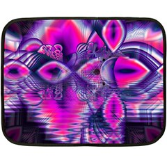 Rose Crystal Palace, Abstract Love Dream  Mini Fleece Blanket (two Sided) by DianeClancy