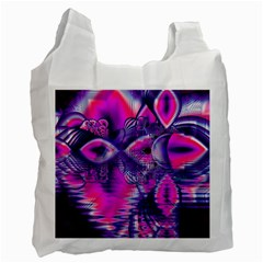 Rose Crystal Palace, Abstract Love Dream  White Reusable Bag (one Side) by DianeClancy