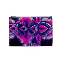 Rose Crystal Palace, Abstract Love Dream  Cosmetic Bag (medium) by DianeClancy