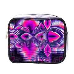 Rose Crystal Palace, Abstract Love Dream  Mini Travel Toiletry Bag (one Side) by DianeClancy