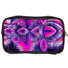 Rose Crystal Palace, Abstract Love Dream  Travel Toiletry Bag (one Side) by DianeClancy