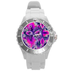 Rose Crystal Palace, Abstract Love Dream  Plastic Sport Watch (large) by DianeClancy