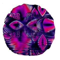 Rose Crystal Palace, Abstract Love Dream  18  Premium Round Cushion  by DianeClancy