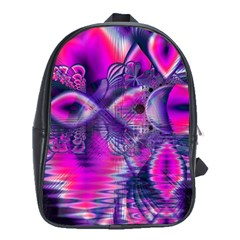Rose Crystal Palace, Abstract Love Dream  School Bag (xl) by DianeClancy