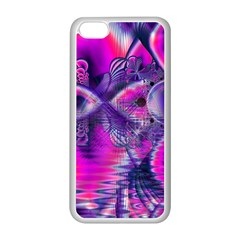Rose Crystal Palace, Abstract Love Dream  Apple Iphone 5c Seamless Case (white) by DianeClancy