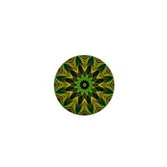 Woven Jungle Leaves Mandala 1  Mini Button