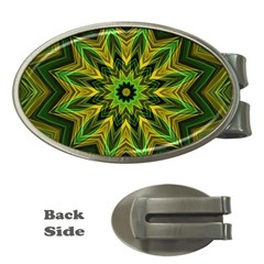 Woven Jungle Leaves Mandala Money Clip (oval) by Zandiepants