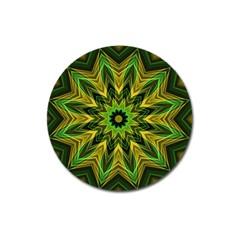 Woven Jungle Leaves Mandala Magnet 3  (round) by Zandiepants