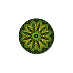 Woven Jungle Leaves Mandala Golf Ball Marker 10 Pack by Zandiepants