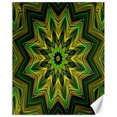 Woven Jungle Leaves Mandala Canvas 16  X 20  (unframed) by Zandiepants