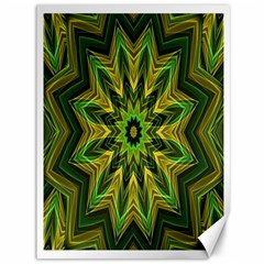 Woven Jungle Leaves Mandala Canvas 36  X 48  (unframed) by Zandiepants