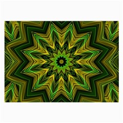 Woven Jungle Leaves Mandala Glasses Cloth (Large, Two Sided) by Zandiepants