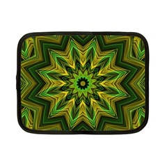 Woven Jungle Leaves Mandala Netbook Sleeve (small) by Zandiepants