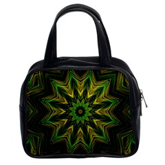 Woven Jungle Leaves Mandala Classic Handbag (two Sides) by Zandiepants
