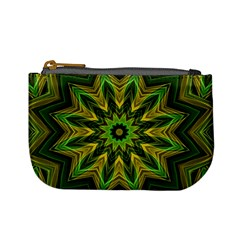 Woven Jungle Leaves Mandala Coin Change Purse