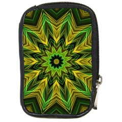 Woven Jungle Leaves Mandala Compact Camera Leather Case by Zandiepants