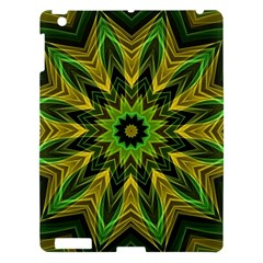 Woven Jungle Leaves Mandala Apple Ipad 3/4 Hardshell Case by Zandiepants