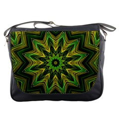 Woven Jungle Leaves Mandala Messenger Bag by Zandiepants