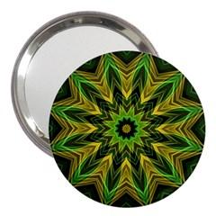 Woven Jungle Leaves Mandala 3  Handbag Mirror by Zandiepants