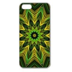 Woven Jungle Leaves Mandala Apple Seamless Iphone 5 Case (clear) by Zandiepants