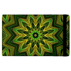 Woven Jungle Leaves Mandala Apple Ipad 2 Flip Case by Zandiepants