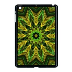 Woven Jungle Leaves Mandala Apple Ipad Mini Case (black) by Zandiepants