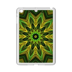 Woven Jungle Leaves Mandala Apple Ipad Mini 2 Case (white) by Zandiepants