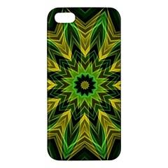 Woven Jungle Leaves Mandala Apple iPhone 5 Premium Hardshell Case by Zandiepants