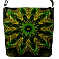 Woven Jungle Leaves Mandala Flap Closure Messenger Bag (small) by Zandiepants