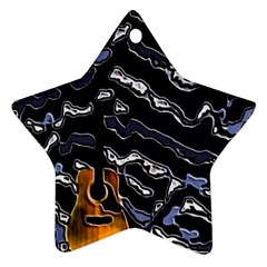 Sound Waves Star Ornament (two Sides) by Rbrendes