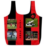 Black and red(any Team) Recycle Bag (XL) - Full Print Recycle Bag (XL)