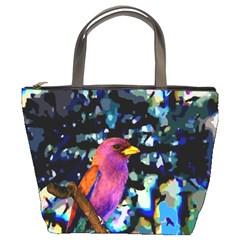 Bird Bucket Handbag by Rbrendes
