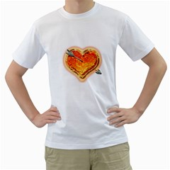Burning Hart Men s T Shirt (white)  by Contest1630871