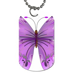 Purple Awareness Butterfly Dog Tag (one Sided) by FunWithFibro