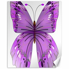 Purple Awareness Butterfly Canvas 11  X 14  (unframed) by FunWithFibro