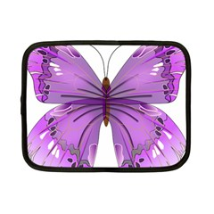 Purple Awareness Butterfly Netbook Sleeve (small) by FunWithFibro
