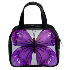 Purple Awareness Butterfly Classic Handbag (two Sides) by FunWithFibro