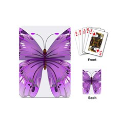 Purple Awareness Butterfly Playing Cards (mini) by FunWithFibro