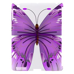 Purple Awareness Butterfly Apple Ipad 3/4 Hardshell Case (compatible With Smart Cover) by FunWithFibro