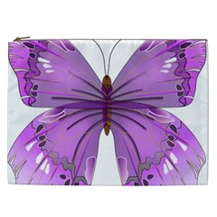 Purple Awareness Butterfly Cosmetic Bag (xxl) by FunWithFibro