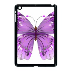Purple Awareness Butterfly Apple Ipad Mini Case (black) by FunWithFibro