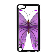 Purple Awareness Butterfly Apple Ipod Touch 5 Case (black) by FunWithFibro