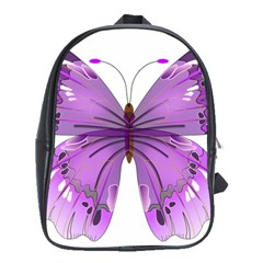 Purple Awareness Butterfly School Bag (xl) by FunWithFibro