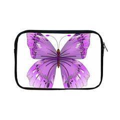 Purple Awareness Butterfly Apple Ipad Mini Zippered Sleeve by FunWithFibro