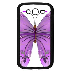 Purple Awareness Butterfly Samsung Galaxy Grand Duos I9082 Case (black) by FunWithFibro
