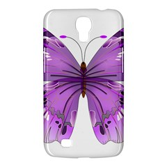 Purple Awareness Butterfly Samsung Galaxy Mega 6 3  I9200 Hardshell Case by FunWithFibro